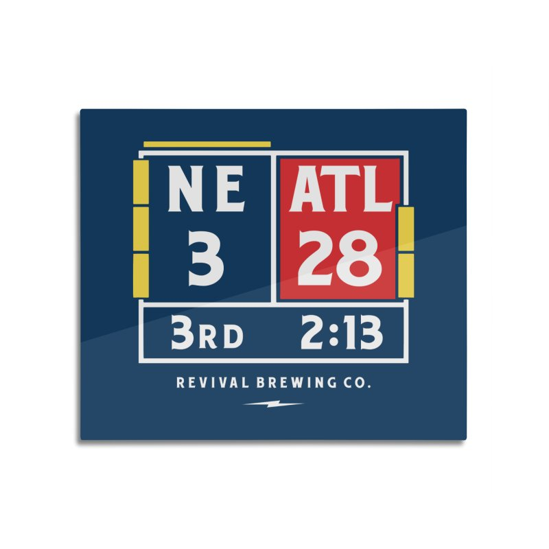 Revival Scoreboard Home Mounted Aluminum Print by Revival Brewing