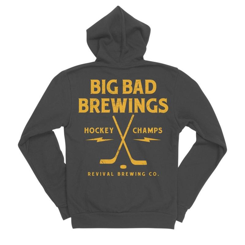 Big Bad Brewings Men's Sponge Fleece Zip-Up Hoody by Revival Brewing