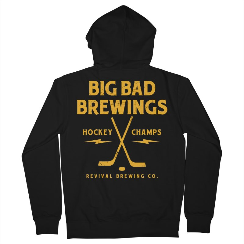 Big Bad Brewings Men's French Terry Zip-Up Hoody by Revival Brewing