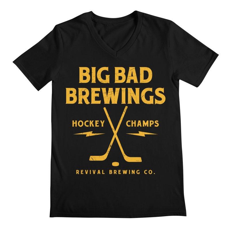 Big Bad Brewings Men's Regular V-Neck by Revival Brewing