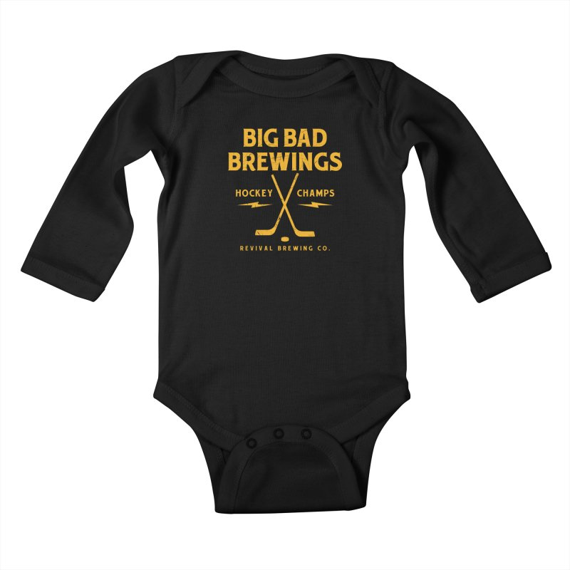 Big Bad Brewings Kids Baby Longsleeve Bodysuit by Revival Brewing