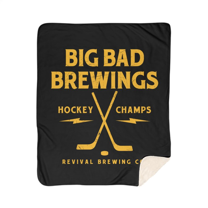Big Bad Brewings Home Sherpa Blanket Blanket by Revival Brewing
