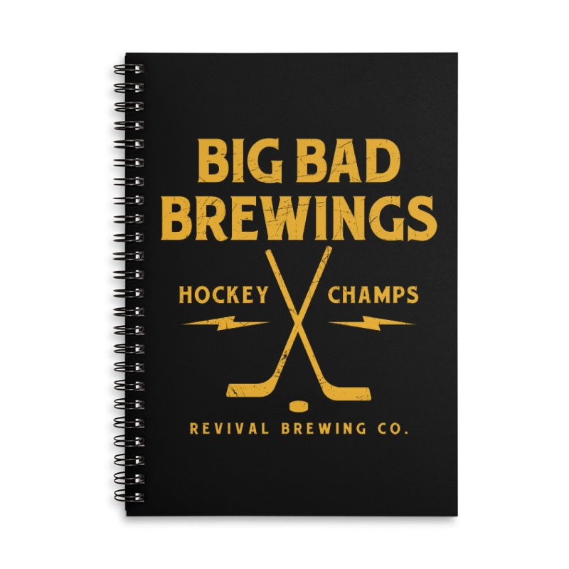 Big Bad Brewings Accessories Lined Spiral Notebook by Revival Brewing