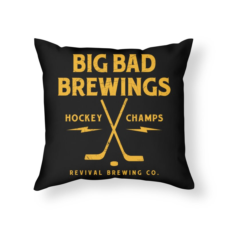 Big Bad Brewings Home Throw Pillow by Revival Brewing
