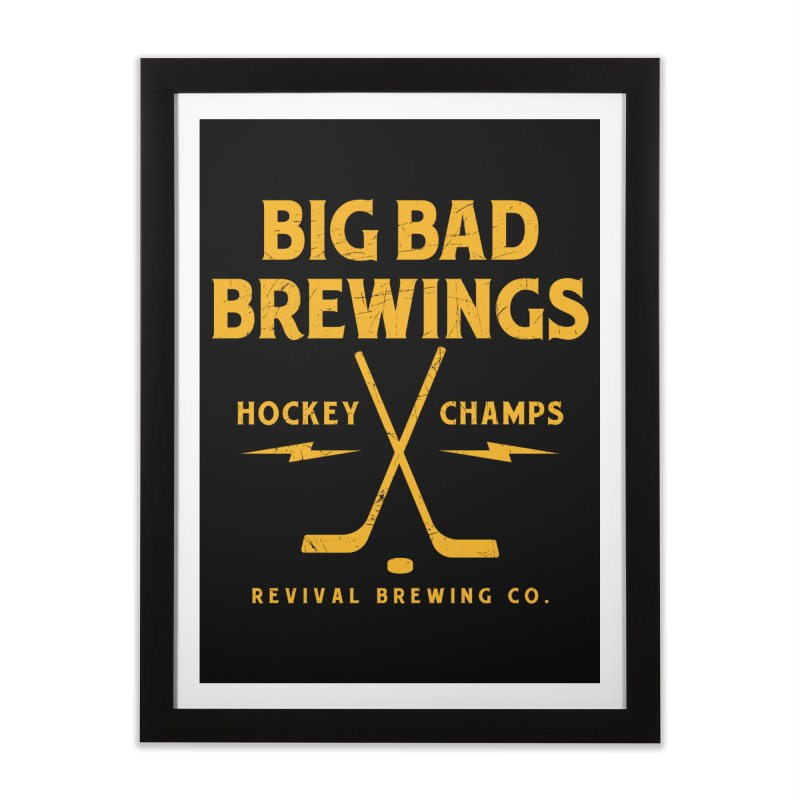 Big Bad Brewings Home Framed Fine Art Print by Revival Brewing