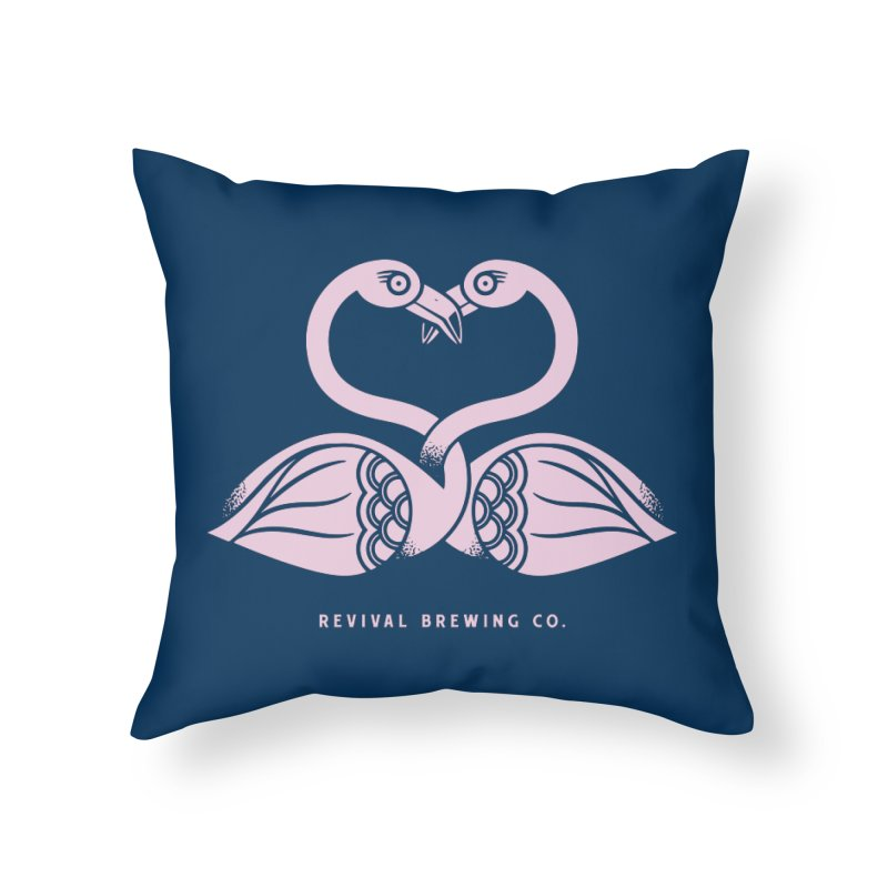 Pinky Swear Home Throw Pillow by Revival Brewing