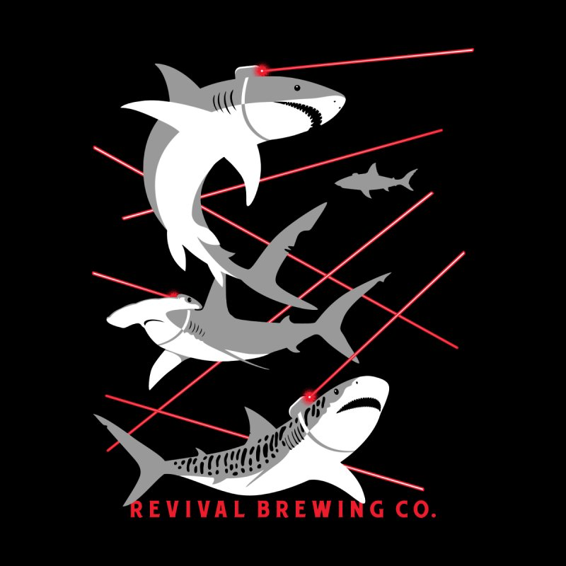 Revival Laser Sharks Men's T-Shirt by Revival Brewing