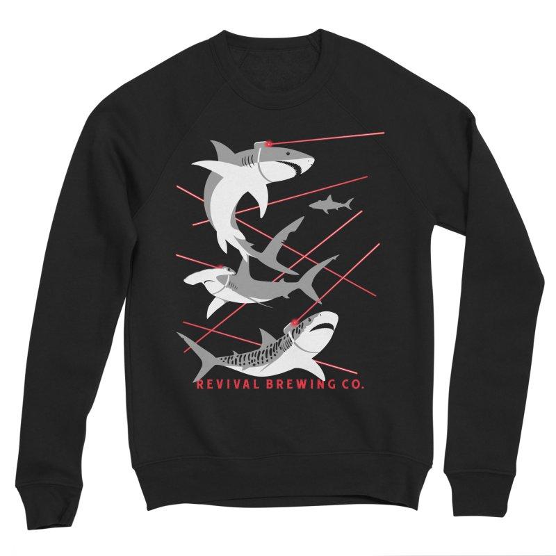Revival Laser Sharks Men's Sweatshirt by Revival Brewing