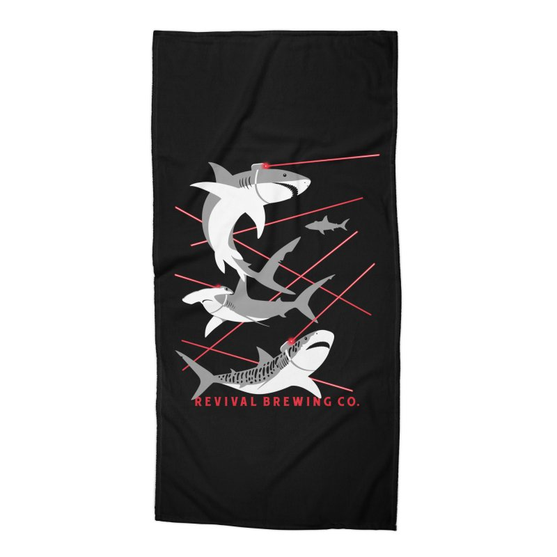 Revival Laser Sharks Accessories Beach Towel by Revival Brewing