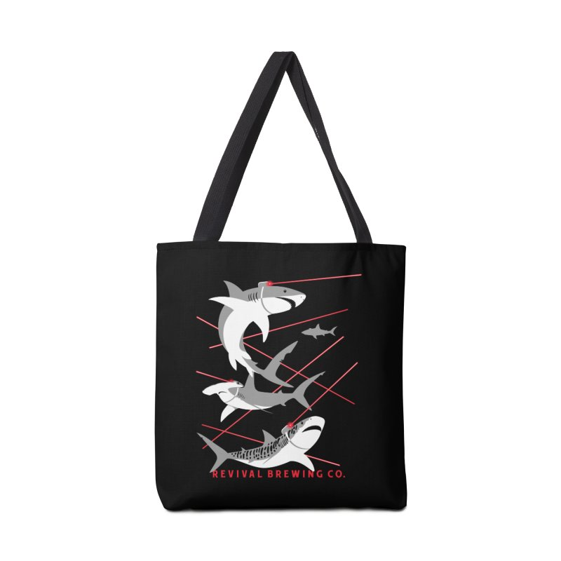 Revival Laser Sharks Accessories Tote Bag Bag by Revival Brewing