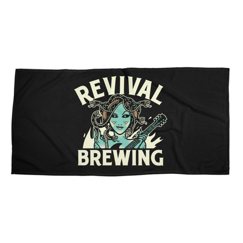 Revival Medusa Accessories Beach Towel by Revival Brewing