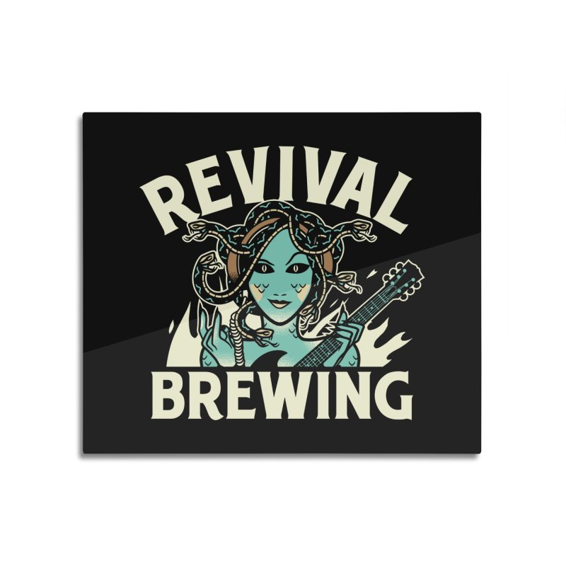 Revival Medusa Home Mounted Acrylic Print by Revival Brewing