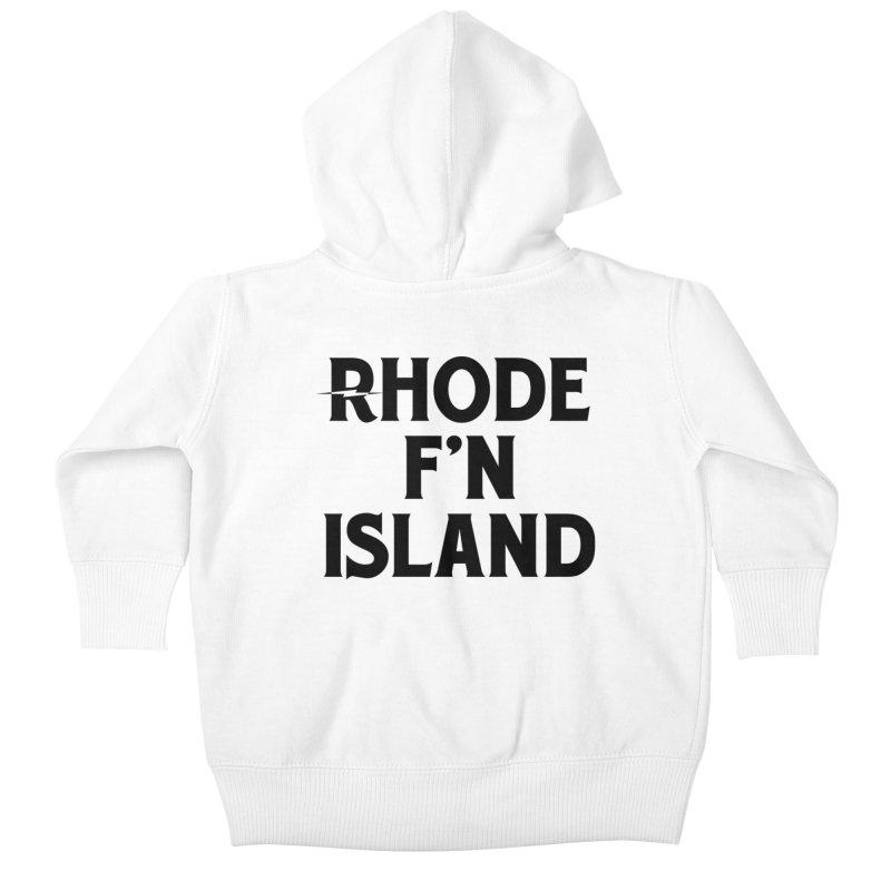 Revival Rhode F'n Island Kids Baby Zip-Up Hoody by Revival Brewing