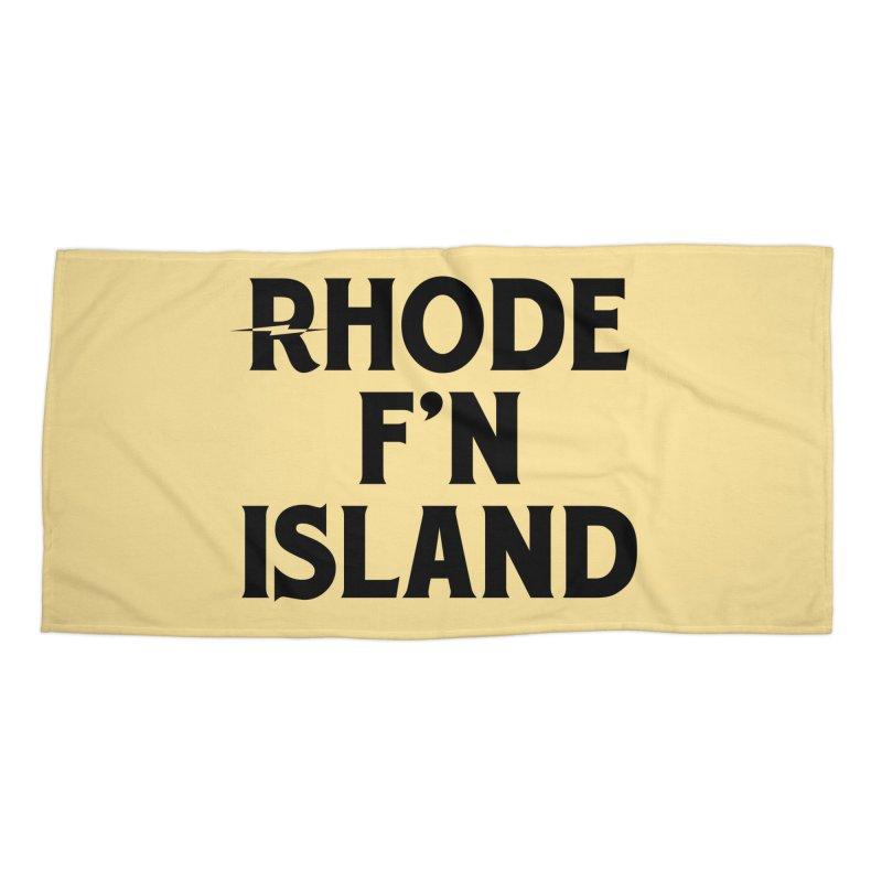 Revival Rhode F'n Island Accessories Beach Towel by Revival Brewing