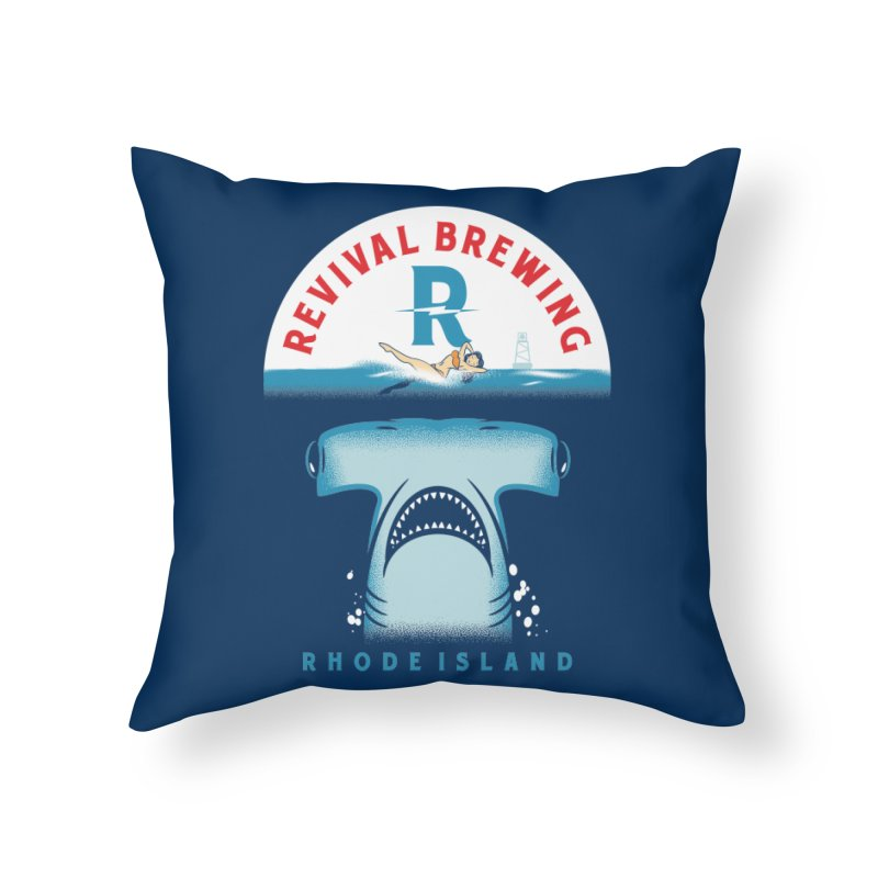 Revival HAMR Swim Home Throw Pillow by Revival Brewing