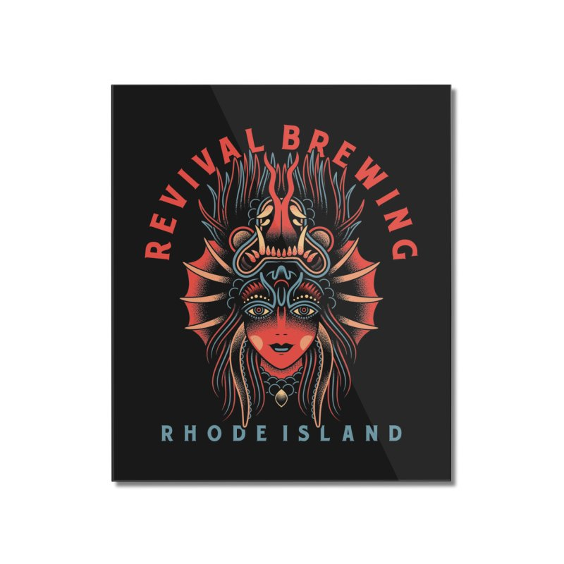 Revival Braise Hell Home Mounted Acrylic Print by Revival Brewing