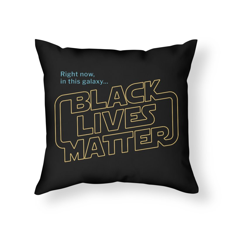 Black Lives Matter Home Throw Pillow by Revival Brewing
