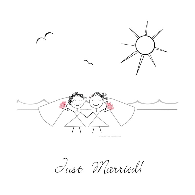 Just Married - Two Brides Women's T-Shirt by Wedding Knots Tied T-shirt Shop