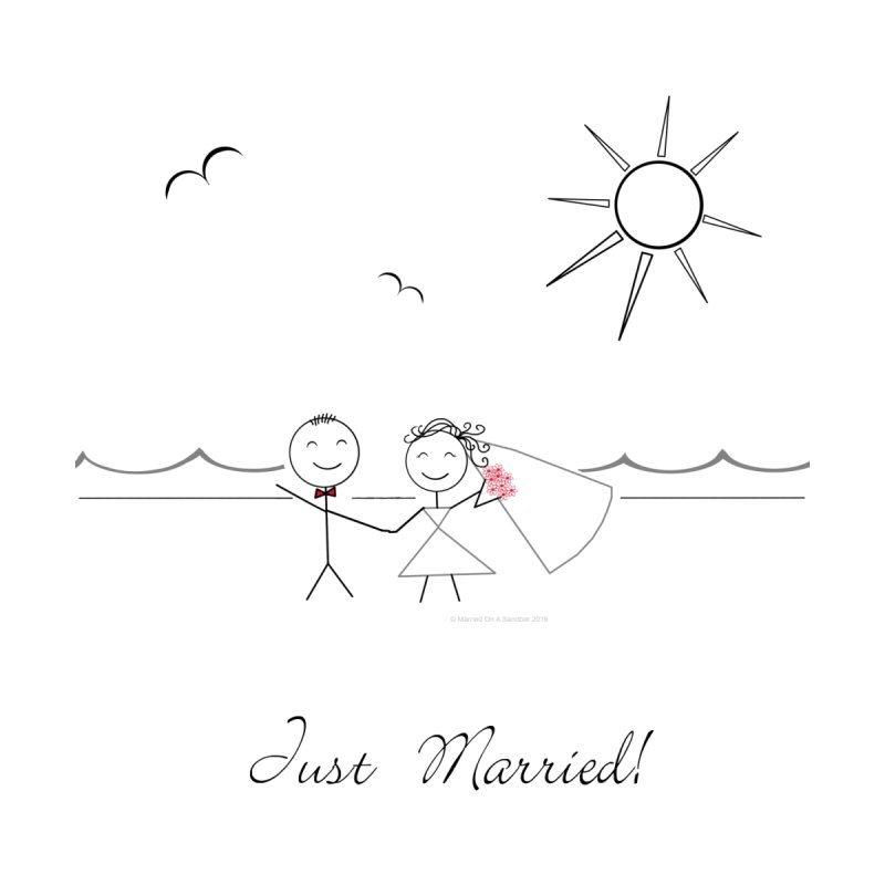 Just Married - bride and groom Men's T-Shirt by Wedding Knots Tied T-shirt Shop