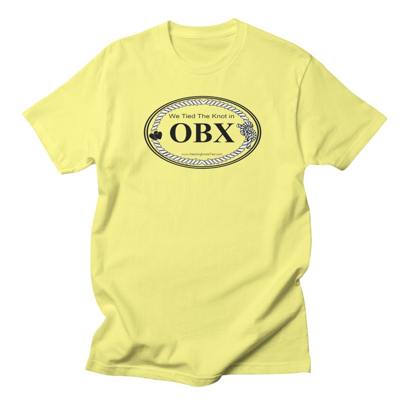 We Tied the Knot in OBX Oval - transparent Men's T-Shirt by Wedding Knots Tied T-shirt Shop