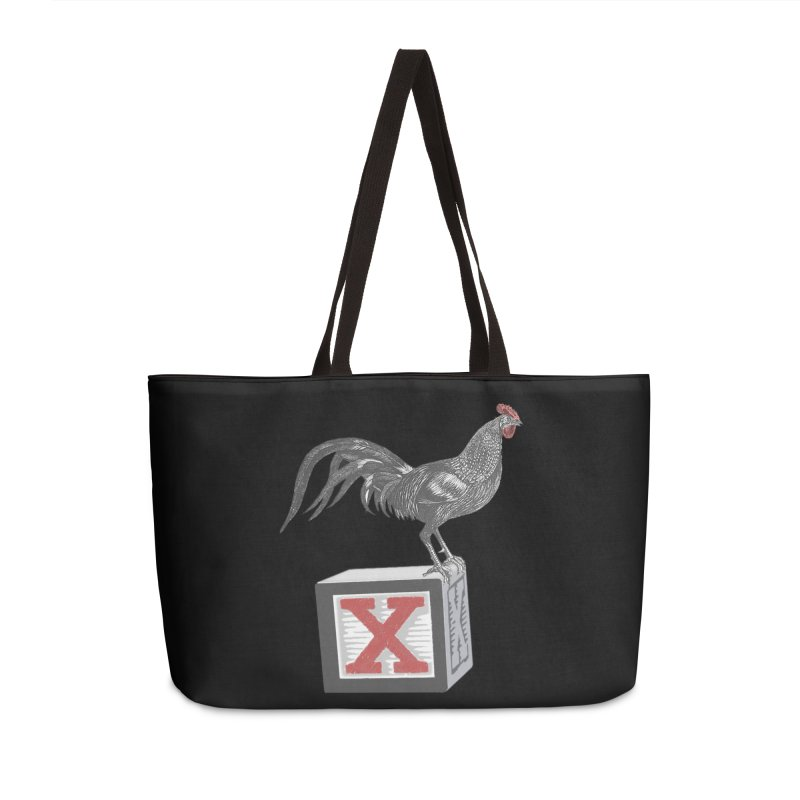 Coq Bloq in Weekender Bag by Revolution Art Offensive