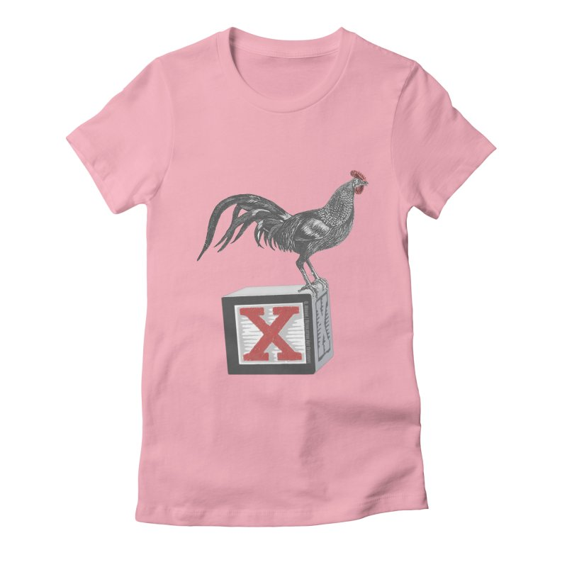 Coq Bloq in Women's Fitted T-Shirt Light Pink by Revolution Art Offensive