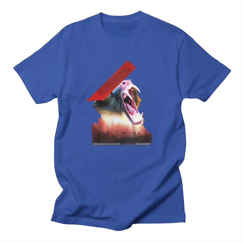 Scream in Men's T-shirt Royal Blue by Revolution Art Offensive