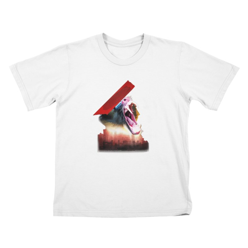 Scream in Kids T-shirt White by Revolution Art Offensive