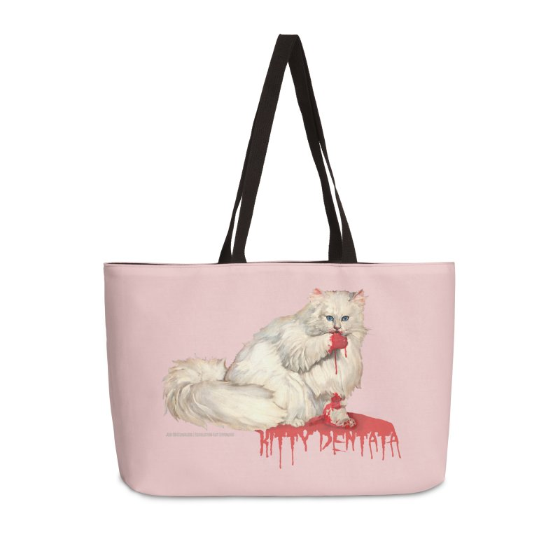 Kitty Dentata Pink Accessories in Weekender Bag by Revolution Art Offensive