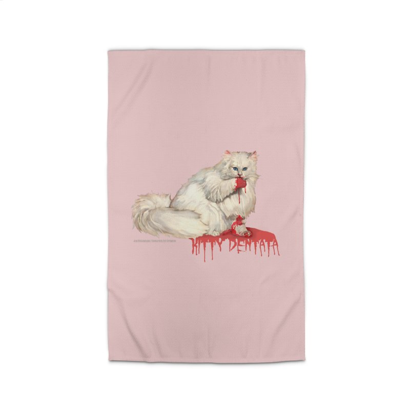 Kitty Dentata Pink Accessories Home Rug by Revolution Art Offensive
