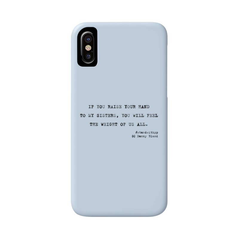 Planned Parenthood Haiku Danny Bland  in iPhone X Phone Case Slim by Revolution Art Offensive