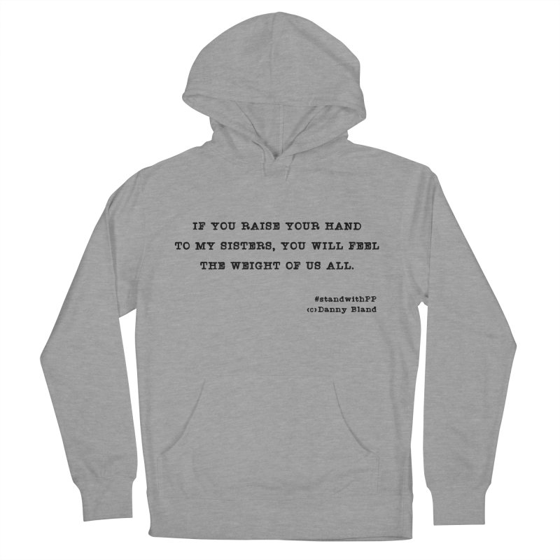 Planned Parenthood Haiku Danny Bland  in Women's Pullover Hoody Heather Graphite by Revolution Art Offensive