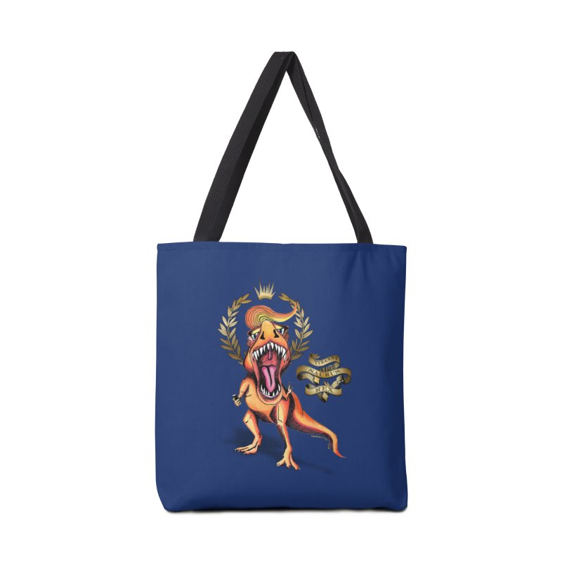 Tyrannysaurus Rex in Tote Bag by Revolution Art Offensive