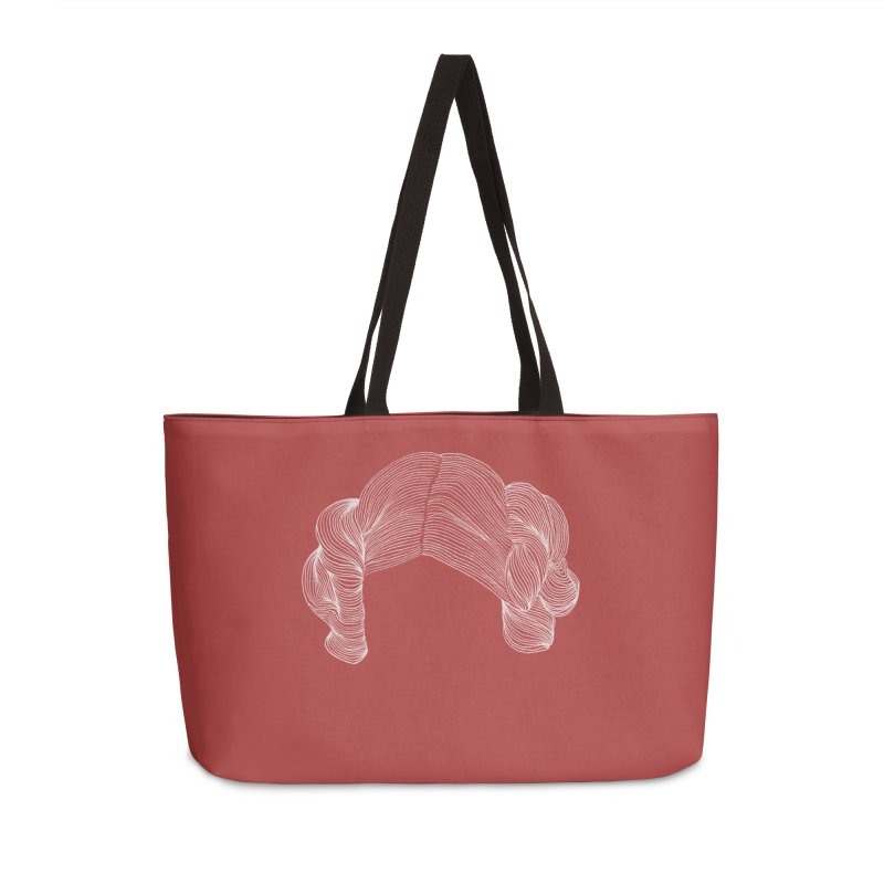 Destroy the Empire White in Weekender Bag by Revolution Art Offensive