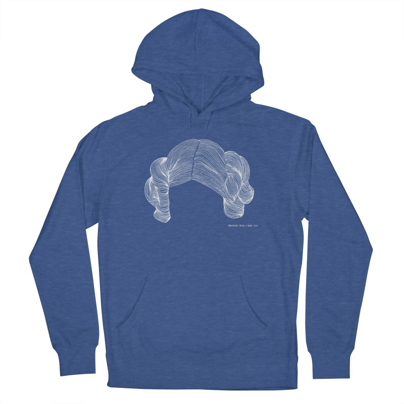 Destroy the Empire White in Men's Pullover Hoody Heather Royal by Revolution Art Offensive