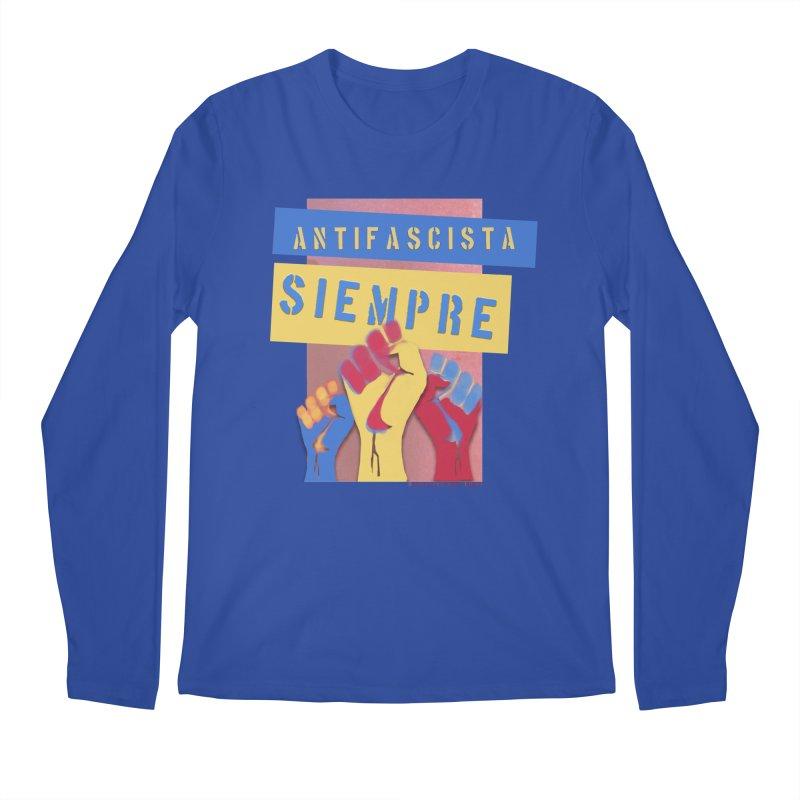 Antifascist Always Español Men's Regular Longsleeve T-Shirt by Revolution Art Offensive