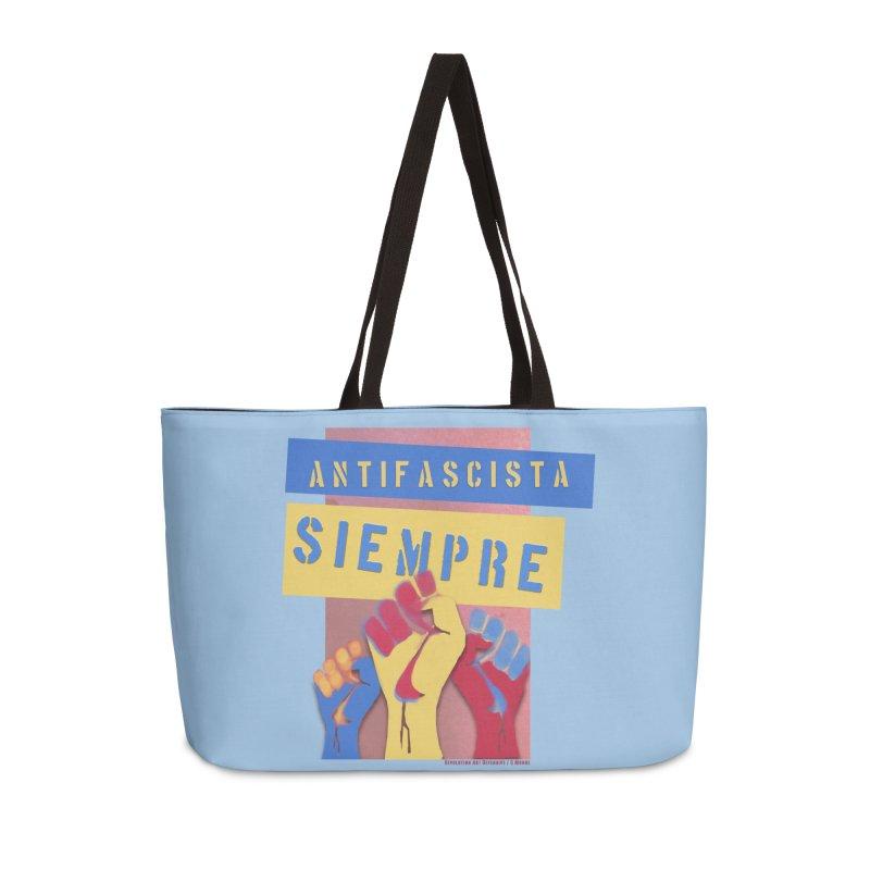 Antifascist Always Español in Weekender Bag by Revolution Art Offensive