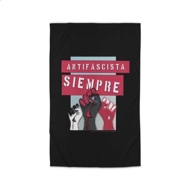 Always Antifascist/Black Accessories Home Rug by Revolution Art Offensive