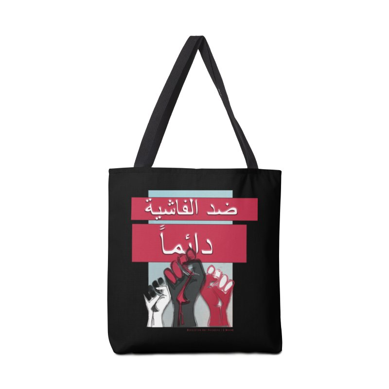 Antifascist Arabic Black Accessories in Tote Bag by Revolution Art Offensive