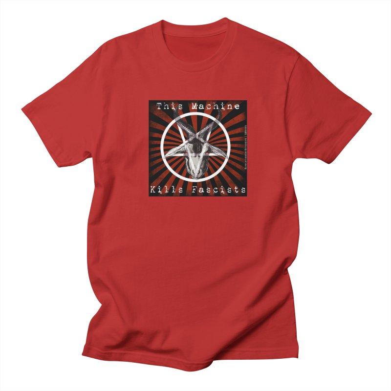 This Machine Kills Fascists Pentagram Women's Unisex T-Shirt by Revolution Art Offensive