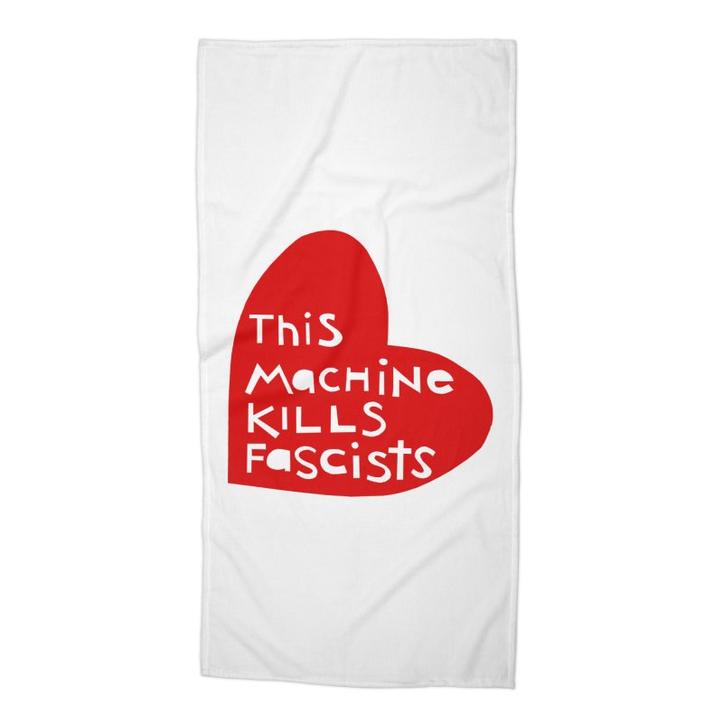 This Machine Heart Accessories Beach Towel by Revolution Art Offensive