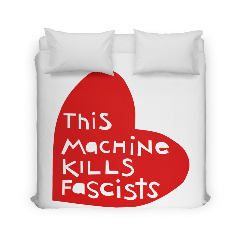 This Machine Heart Home Duvet by Revolution Art Offensive