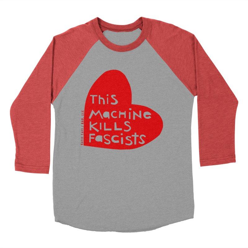 This Machine Heart Women's Baseball Triblend T-Shirt by Revolution Art Offensive