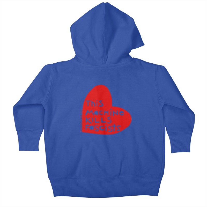 This Machine Heart Kids Baby Zip-Up Hoody by Revolution Art Offensive