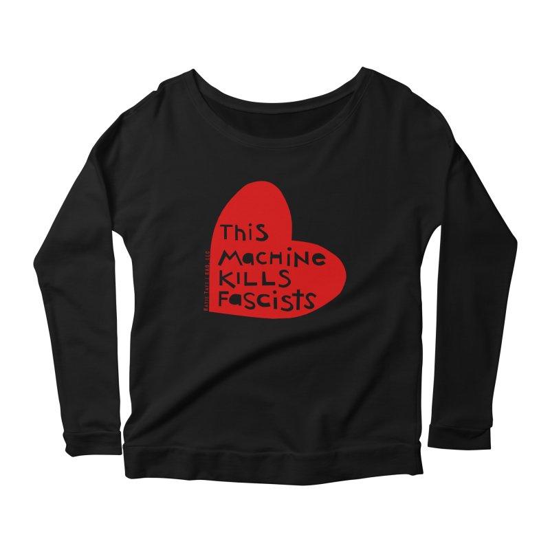 This Machine Heart Women's Longsleeve Scoopneck  by Revolution Art Offensive