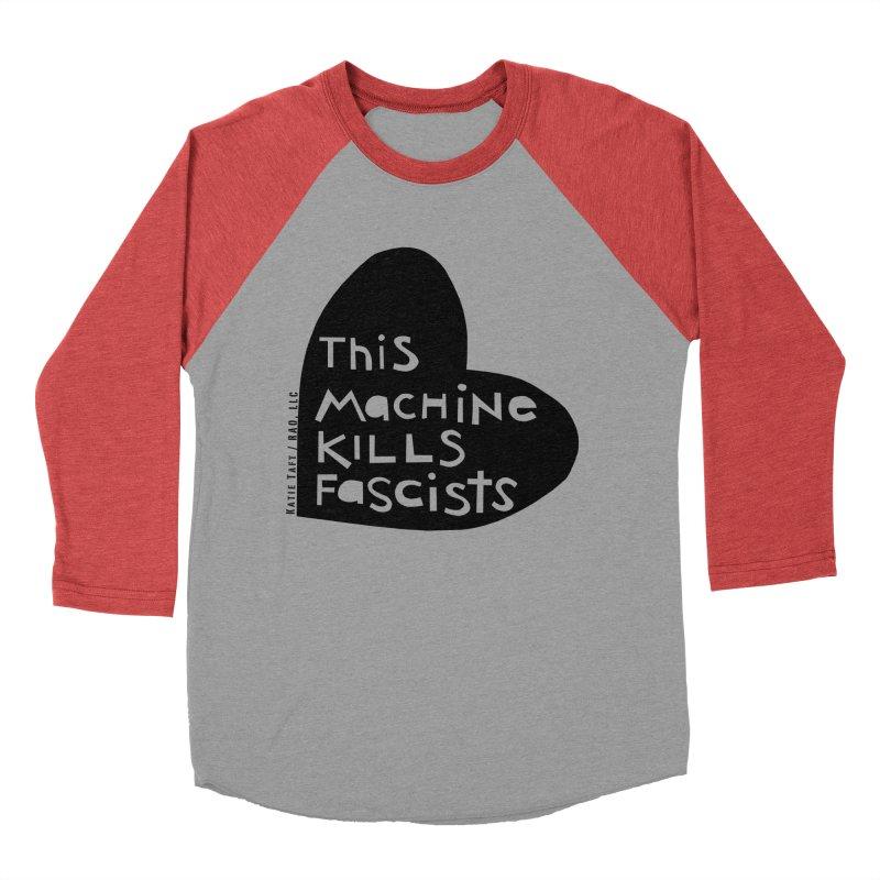 This Machine Black Heart Women's Baseball Triblend T-Shirt by Revolution Art Offensive