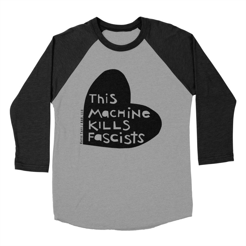 This Machine Black Heart Men's Baseball Triblend T-Shirt by Revolution Art Offensive