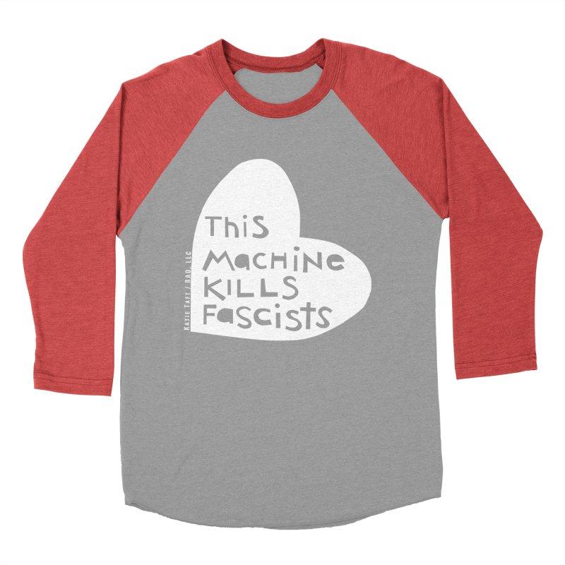 This Machine White Women's Baseball Triblend T-Shirt by Revolution Art Offensive