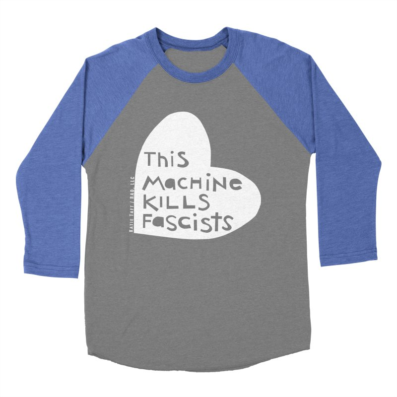 This Machine White Men's Baseball Triblend T-Shirt by Revolution Art Offensive