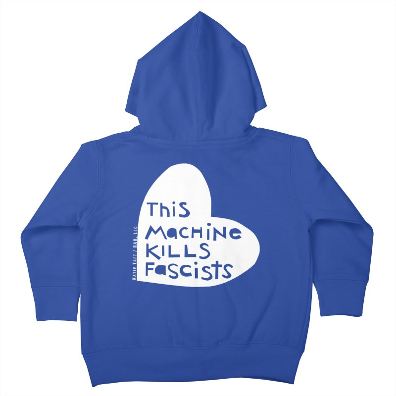 This Machine White Kids Toddler Zip-Up Hoody by Revolution Art Offensive